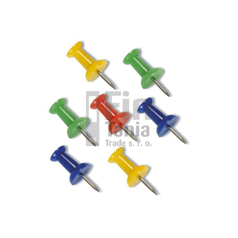 Špendlíky barevné s plastovou hlavou (korková nástěnka) 036401000