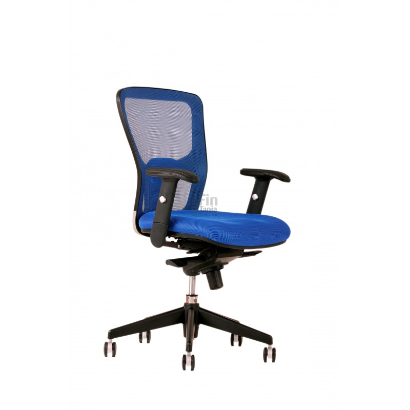 Kancelářská židle DIKE BP - bez opěrky hlavy (4 barvy), Látka DK 13 červená Office Pro 073300515 Kancelářské židle a křesla