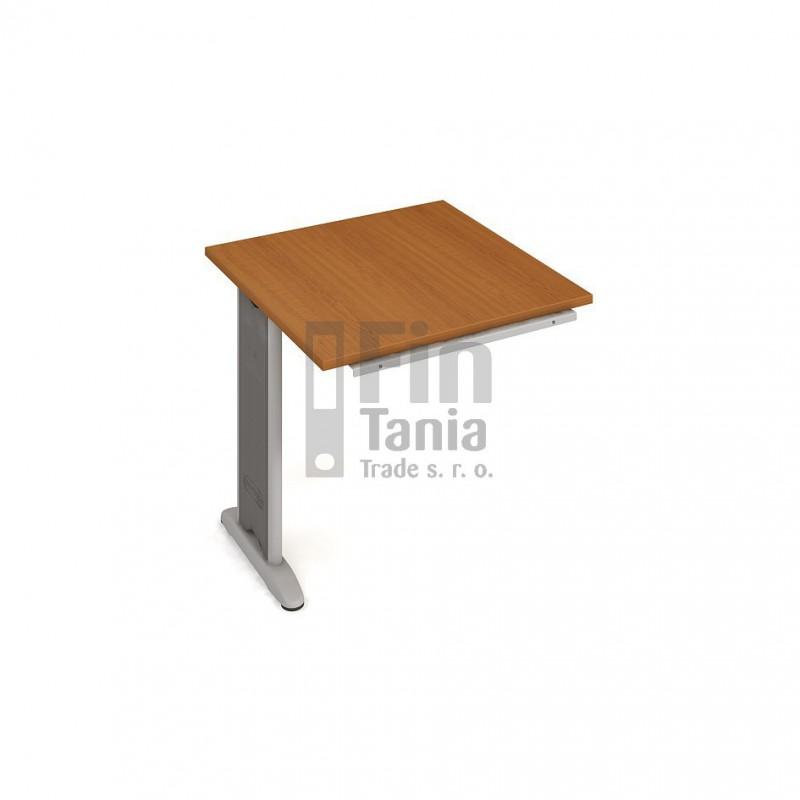 Psací stůl kancelářský Hobis Cross CP 801 doplňkový, Typ podnože RM 100, Barva nohou černá, Barva stolové desky Akát, Barva trnože v barvě nohy Office Pro 099031000
