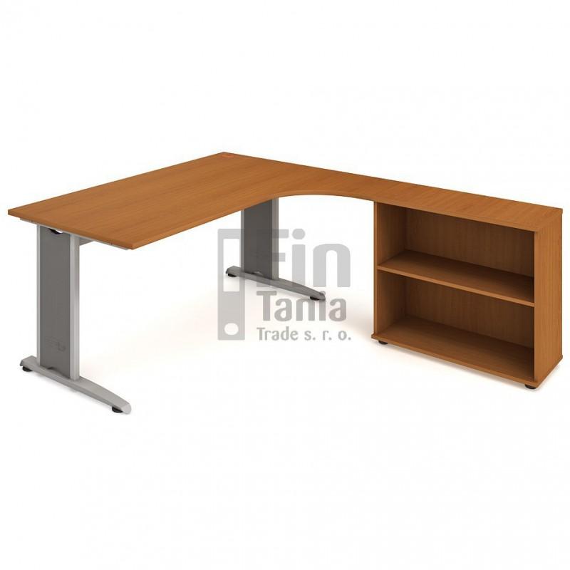 Psací stůl Hobis Flex FE 1800 H levý - 180 x 200, Typ podnože RM 200 Office Pro 099116000 Psací stoly