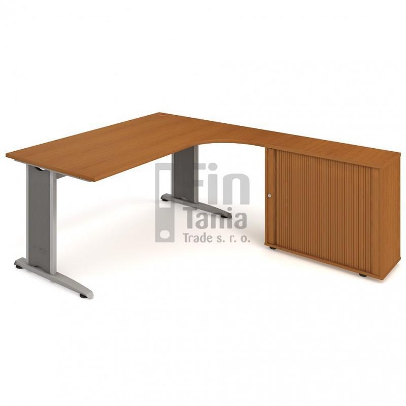 Psací stůl Hobis Flex FEV 1800 HR levý - 180 x 200, Typ podnože RM 200 Office Pro 099126000 Psací stoly