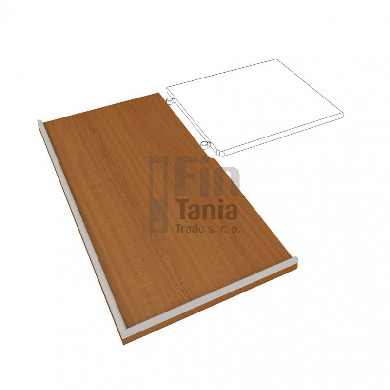 Kuchyňská pracovní deska HOBIS DEP 180 L, levá, Barva pohledu Ořech Office Pro 099160300