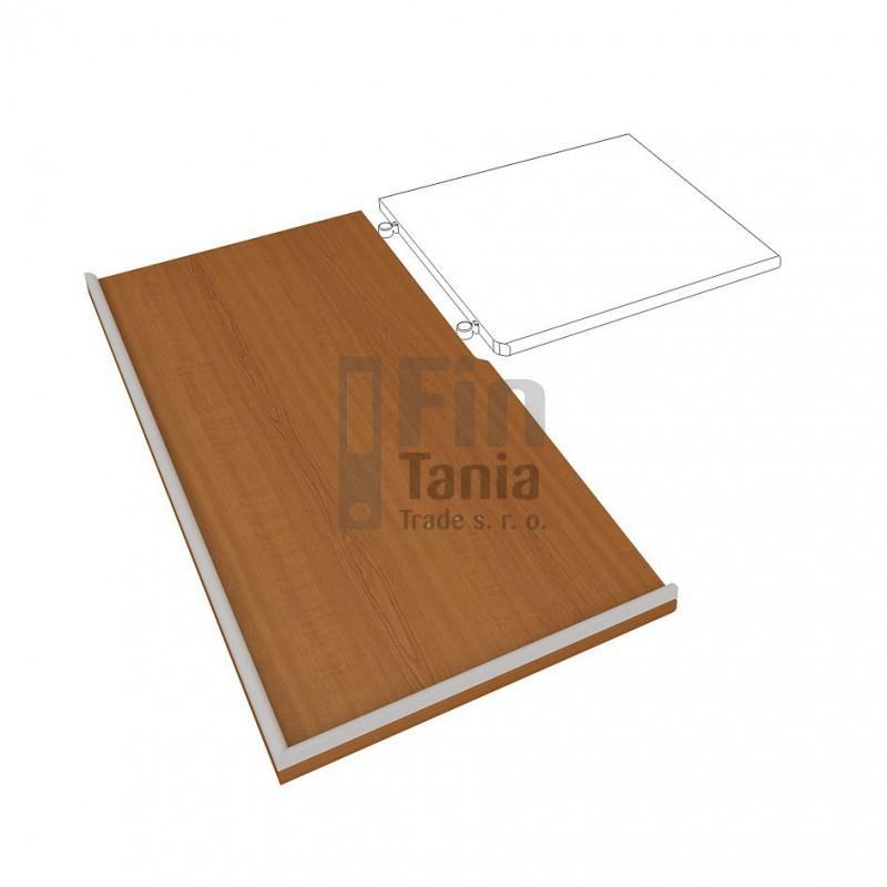 Kuchyňská pracovní deska HOBIS DEP 390 L, levá, Barva pohledu Ořech Office Pro 099170100