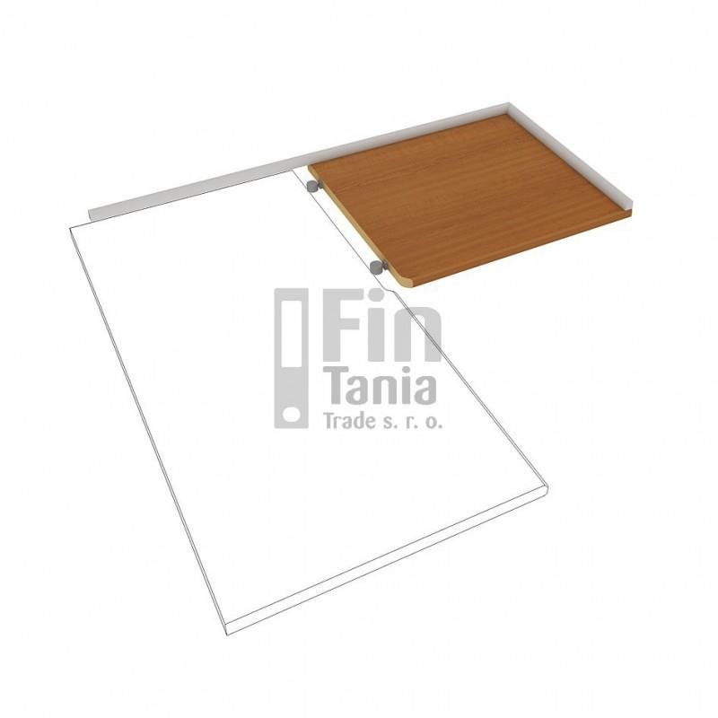 Kuchyňská pracovní deska rohová pravá HOBIS DEP 120 P, Barva pohledu Ořech Office Pro 099300500