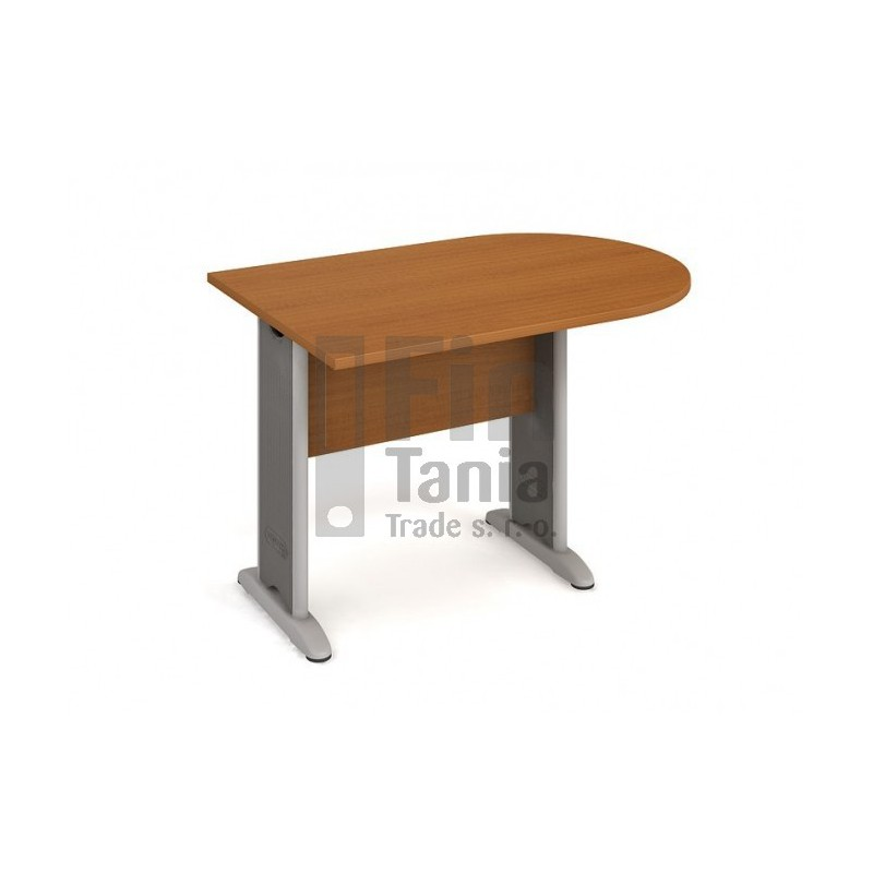 Psací stůl kancelářský Hobis Cross CP 1200 1 jednací, Typ podnože RM 100, Barva nohou černá, Barva stolové desky Akát, Barva trnože v barvě nohy Office Pro 099901200