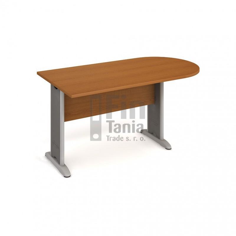 Psací stůl kancelářský Hobis Cross CP 1600 1 jednací, Typ podnože RM 100, Barva nohou černá, Barva stolové desky Akát, Barva trnože v barvě nohy 099901600