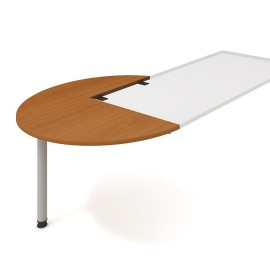 Psací stůl kancelářský Hobis Proxy PP 22 levý jednací-léta napříč