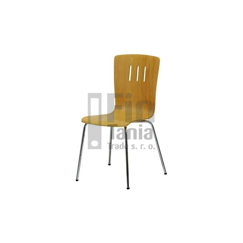 Jídelní židle DORA, Barva Buk, Barva nohou Hliník 073400200