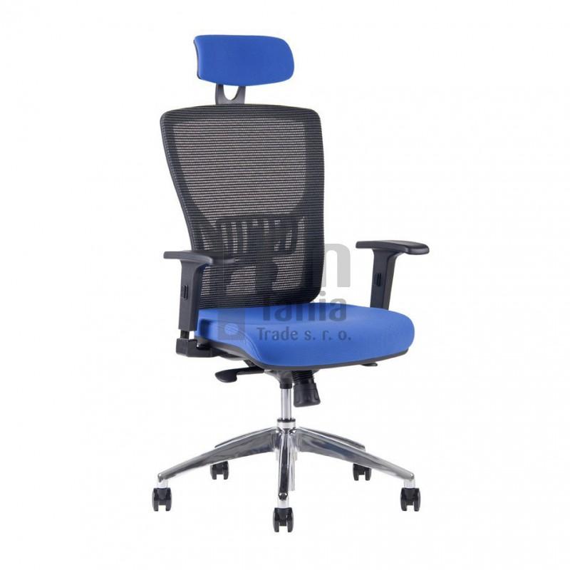 židle OfficePro HALIA Mesh Chrom SP, Barva Modrá Office Pro 0733059xx Kancelářské židle a křesla