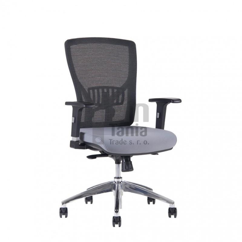 Kancelářská židle HALIA Mesh Chrom BP, bez podhlavníku, 3 barvy sedáku, Barva Modrá Office Pro 0733058xx Kancelářské židle a křesla
