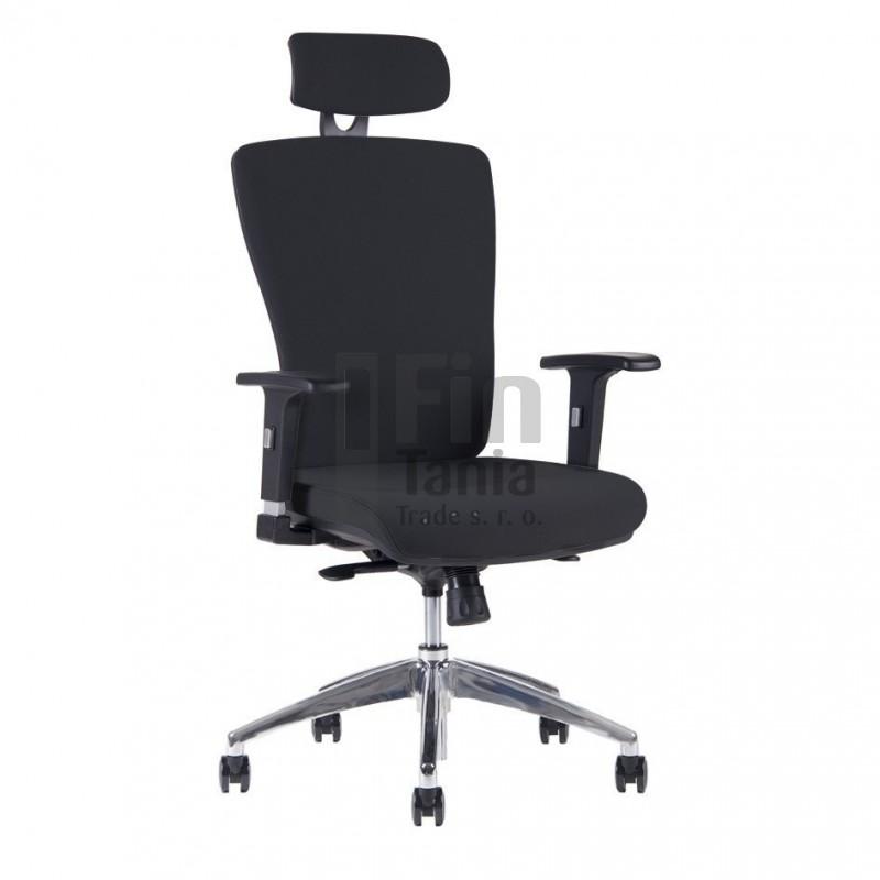 Kancelářská židle HALIA Chrom SP, s podhlavníkem, 3 barvy židle, Barva Modrá Office Pro 0733069xx Kancelářské židle a křesla