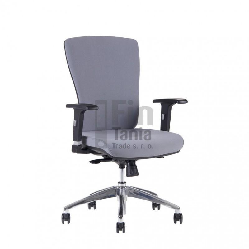Kancelářská židle HALIA Chrom BP, bez podhlavníku, 3 barvy židle, Barva Modrá Office Pro 0733068xx Kancelářské židle a křesla