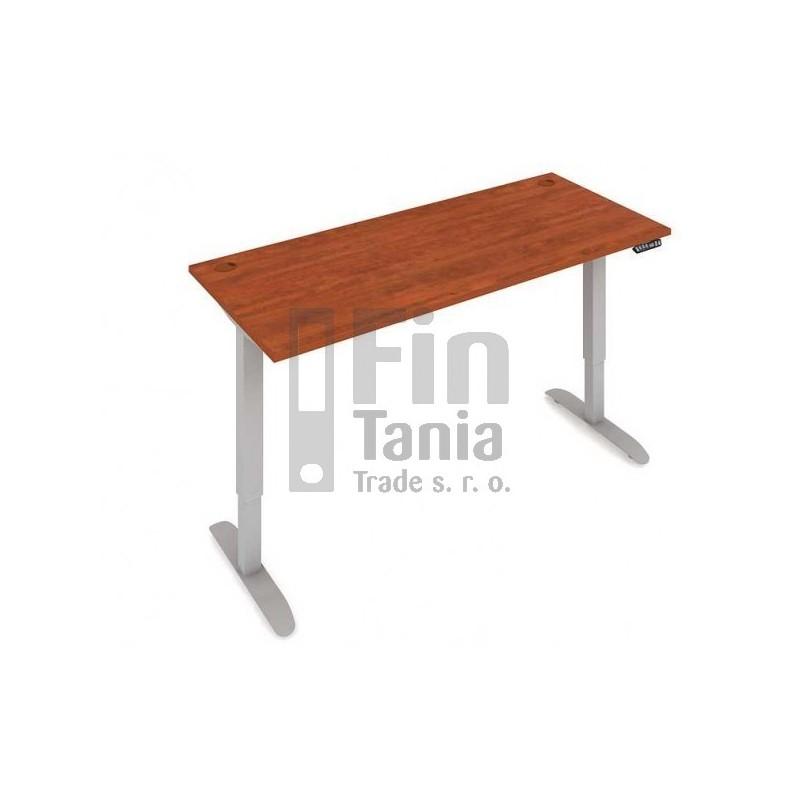 Stůl elektricky výškově stavitelný MS 2M 1600 - 160 x 80, Barva Akát, Barva nohou Černá RAL 9005 Office Pro 099227300 Psací stoly