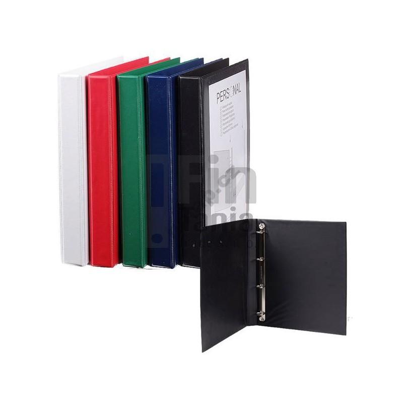 Pořadač - šanon 4-kroužkový, A4, 5cm PERSONAL černý 020108900