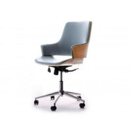 Kancelářská židle IMAGE, kombinace dřeva a kůže