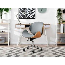 Kancelářská židle ELEGANCE, kombinace dřeva a kůže