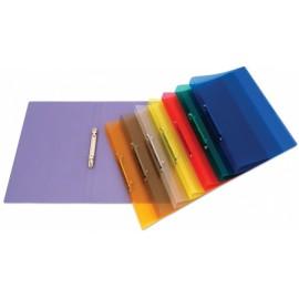 Pořadač průhledný PP A4 2-kroužkový, (6 barev)