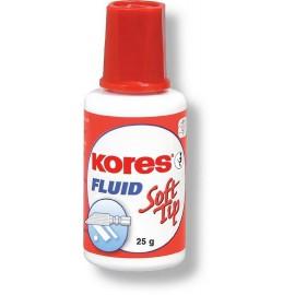 Korekční lak Kores Fluid Soft Tip s houbičkou