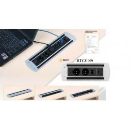 Office Pro VAULT BTCZ 009 zásuvkový panel 2x el.zás.,1x data zámek