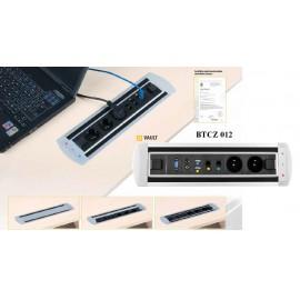 Office Pro VAULT BTCZ 011 zásuvkový panel .2x el.zás.,vypínač zámek