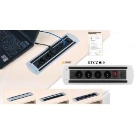 OfficePro VAULT BTCZ 010 zásuvkový panel, 4x el.zás.,vypínač zámek
