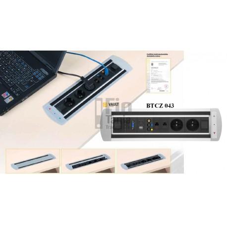 OfficePro VAULT BTCZ 043 - zásuvkový otočný panel