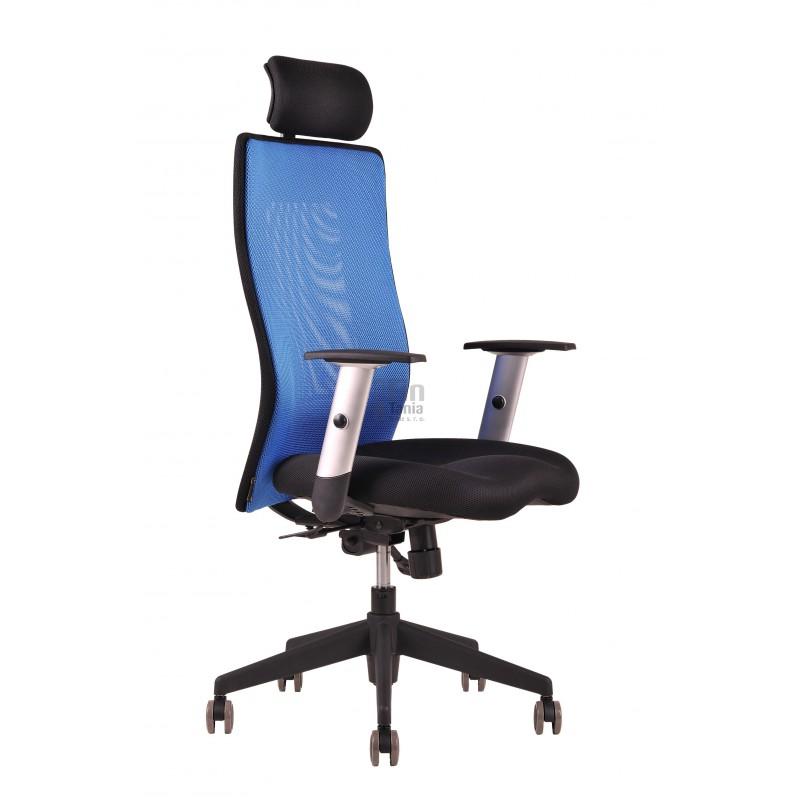 Kancelářská židle CALYPSO GRAND SP 1, Látka 14A11 modrá, Sedák černý Office Pro 0733040xx Kancelářské židle a křesla