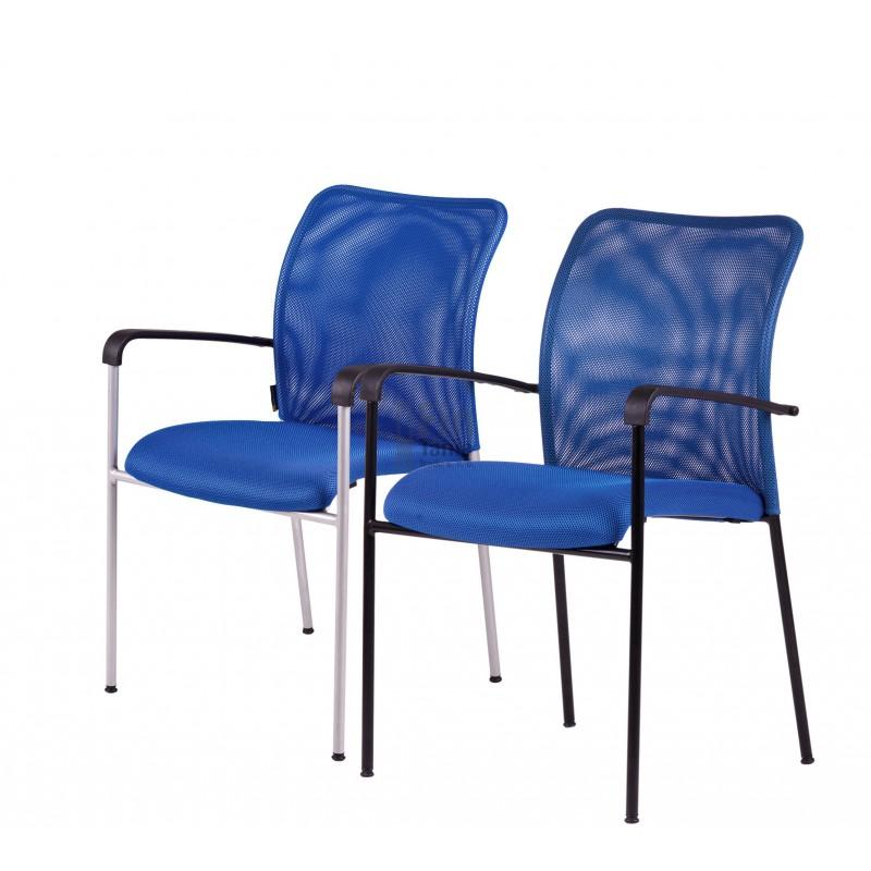 jednací židle TRITON BLACK (4 barvy), Látka DK 13 červená Office Pro 073401015