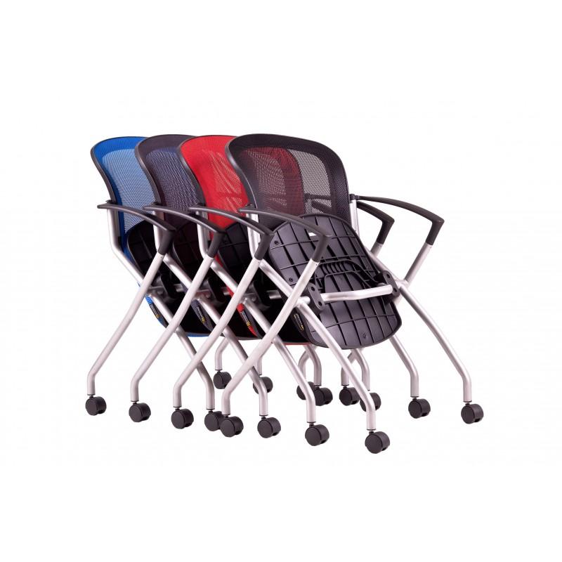 Konferenční židle METIS na kolečkách , Látka DK 10 černá Office Pro 073403402 jednací židle