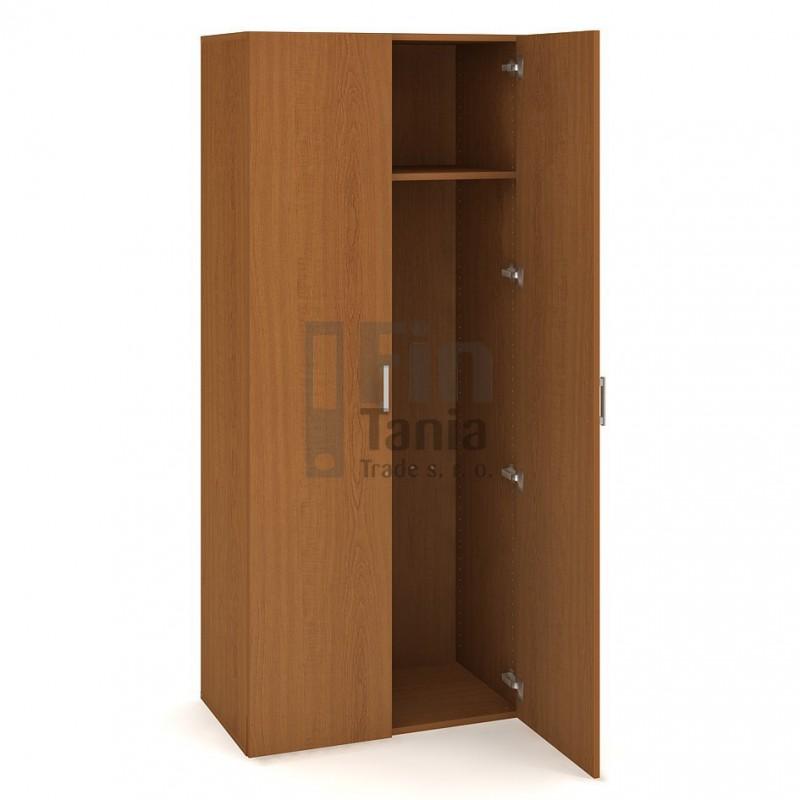 Šatní skříň Hobis Drive D 5 80 01 - 80 x 42, Barva korpusu Ořech, Barva dveří Ořech Office Pro 099001900 Šatní skříně
