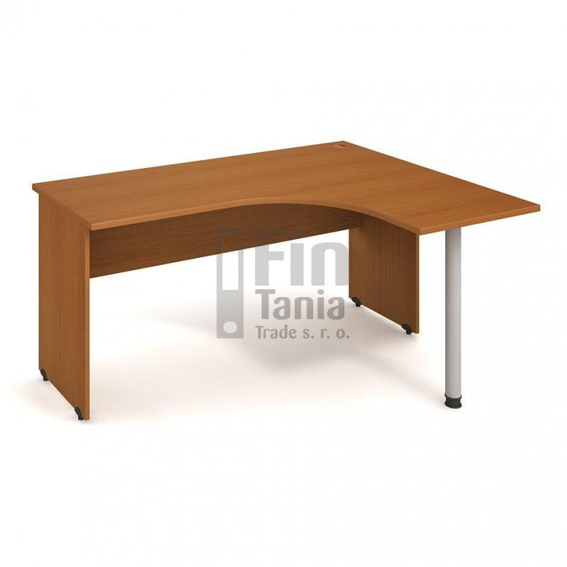 Psací stůl Hobis Gate GE 60 levý - 160 x 120, Barva nohou celobarva, Barva stolové desky Akát Office Pro 099003400 Psací stoly