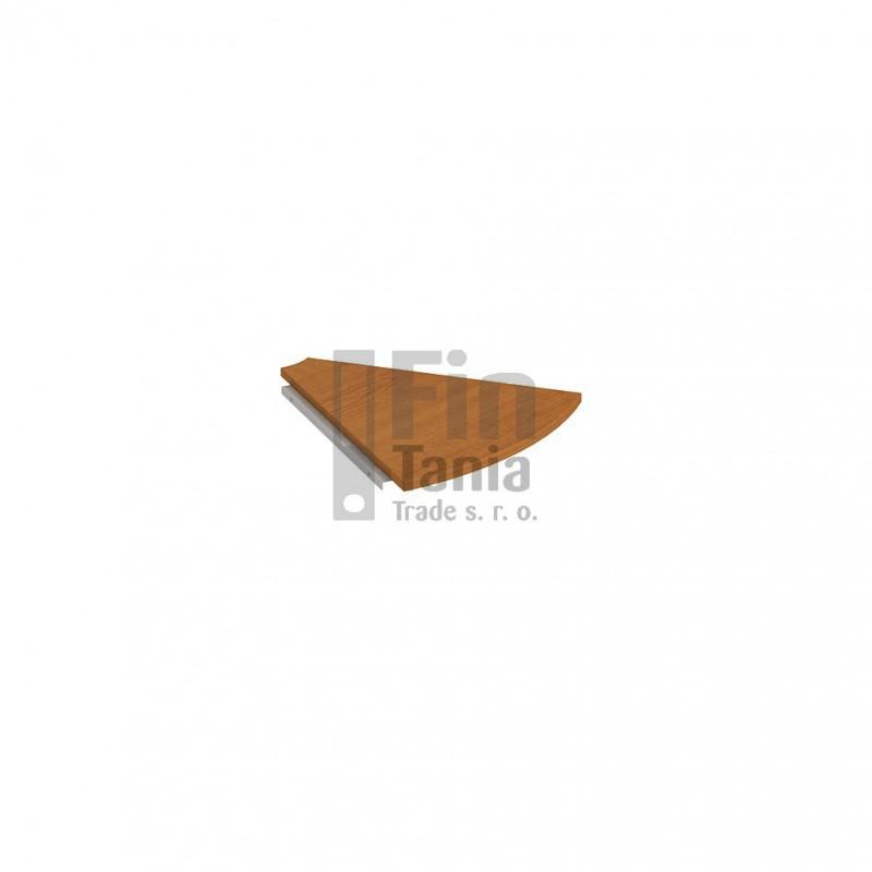 Stolová spojovací deska Hobis Cross 45° CP 450, Typ podnože RM 100, Barva nohou černá, Barva stolové desky Akát, Barva trnože v barvě stolové desky Office Pro 099033000