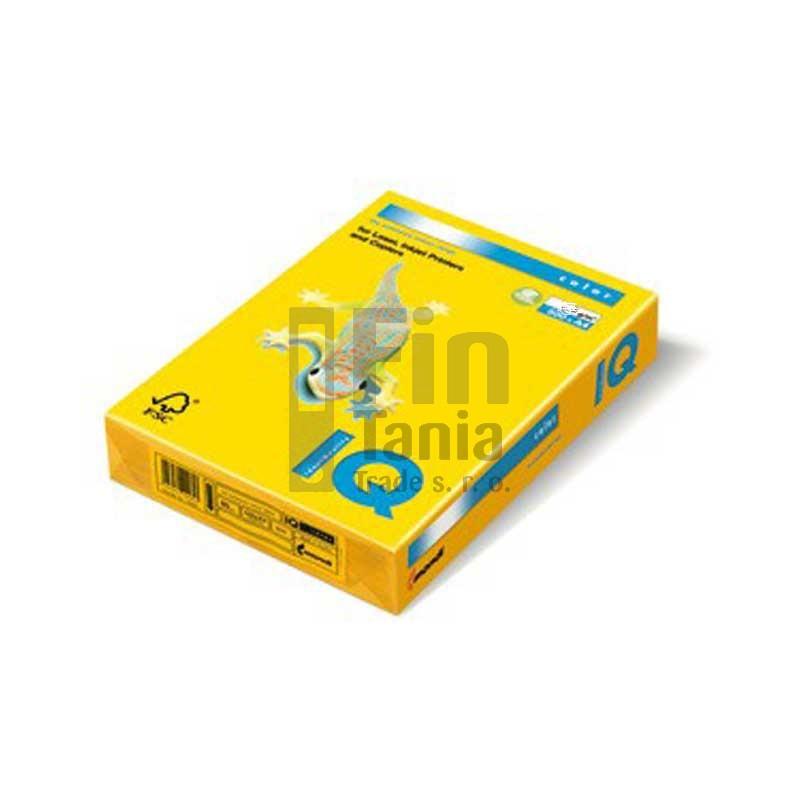 Kancelářský papír barevný IQ color, A4/160g, intenzivní žlutá, č.IG50 !DOPRODEJ! 010104100