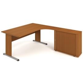 Psací stůl Hobis Proxy PEV 1800 HR levý - 180 x 200