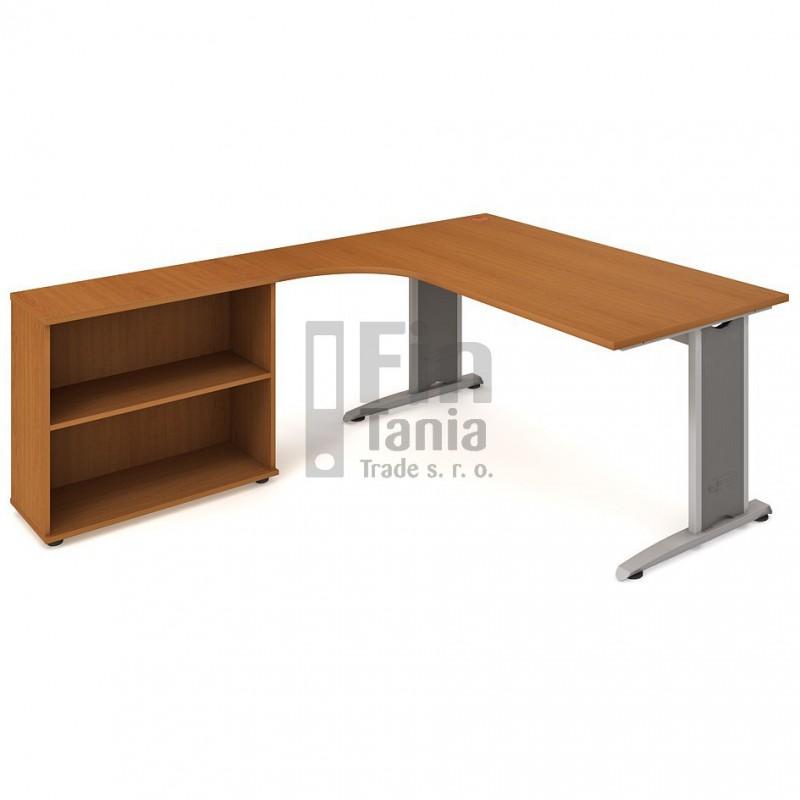 Psací stůl Hobis Flex FE 1800 H pravý - 180 x 200, Typ podnože RM 200 Office Pro 099120000 Psací stoly