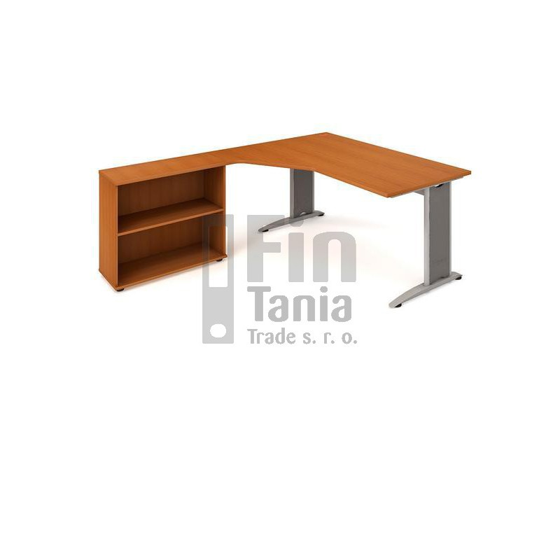 Psací stůl Hobis Flex FEV 1800 H pravý - 180 x 200, Typ podnože RM 200 Office Pro 099122000 Psací stoly