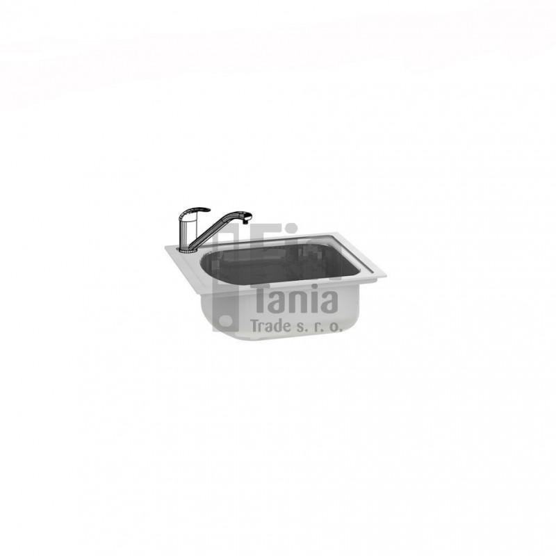 Kuchyňský dřez bez odkapávače Hobis DRE L levý 099180500
