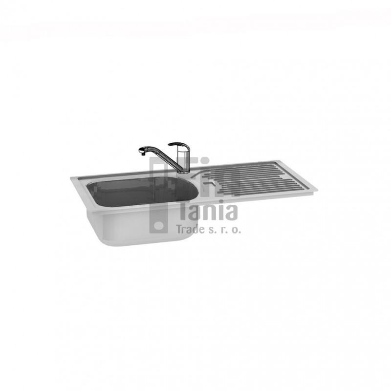 Kuchyňský dřez s odkapávačem Hobis DRE OP pravý 099180800