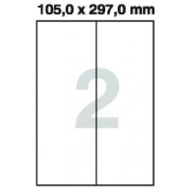 Etikety samolepící Print A4 105 x 297 mm