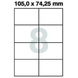 Etikety samolepící Print A4 105 x 74,25 mm