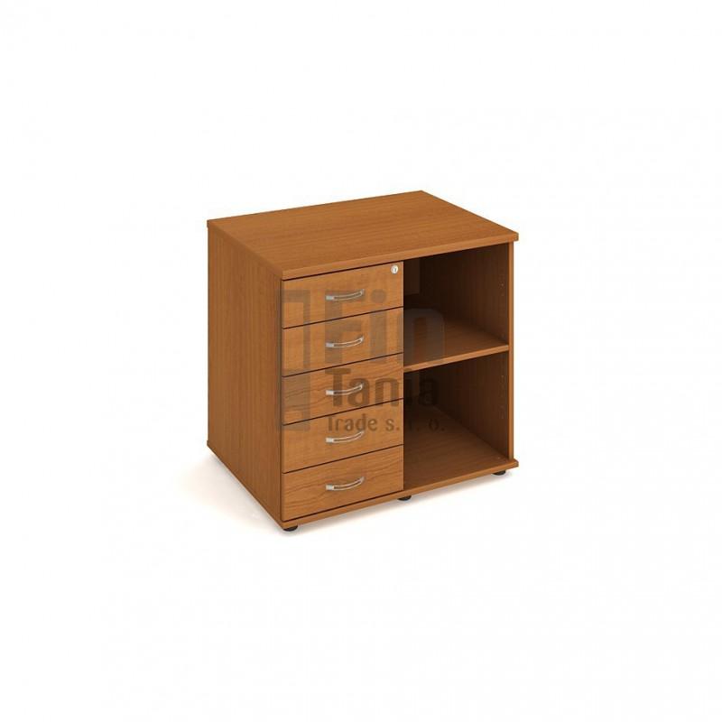 Skříň Hobis ke stolu s kontejnerem SPK 80 60 L - 80 x 60, Barva korpusu Olše, Barva pohledu celobarva Office Pro 099215000 Zásuvkové kontejnery