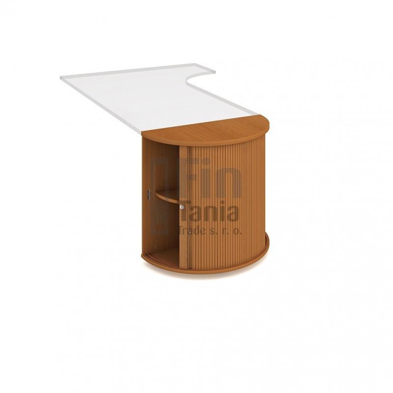 Skříň Hobis 1SPR U ke stolu - 80 x 40, Barva korpusu Ořech, Barva pohledu celobarva Office Pro 099217000 Policové skříně