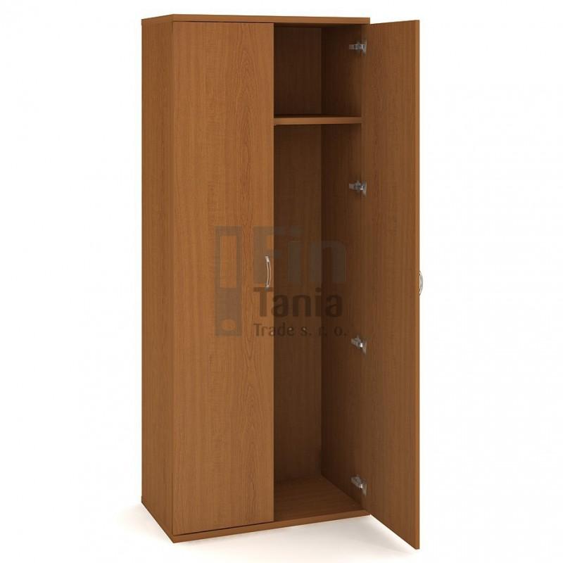 Skříň Hobis Strong S 5 80 01 - 80 x 40, Barva korpusu Akát, Barva dveří Akát Office Pro 099283000 šatní skříně