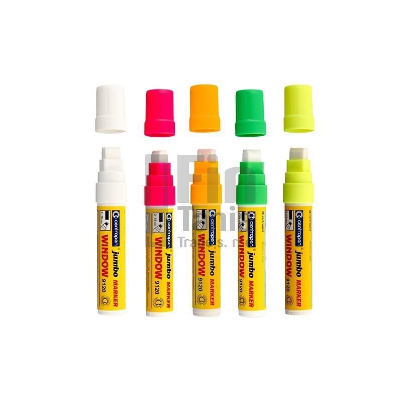 Značkovač CENTROPEN 9120 na sklo (5 barev), Barva Bílá CENTROPEN 033001801