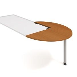 Psací stůl kancelářský Hobis Proxy PP 22 pravý jednací-léta podél