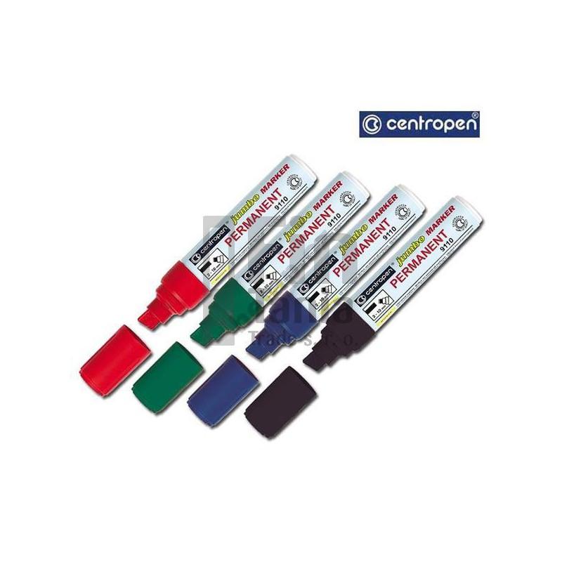 Značkovač CENTROPEN 9110 JUMBO permanentní (4 barvy), Barva Černá CENTROPEN 033001902