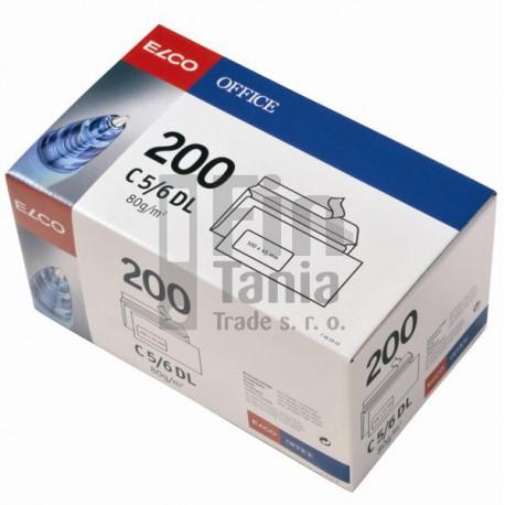 Obálky ELCO_DL samolepicí s oknem vlevo, BOX 200 ks