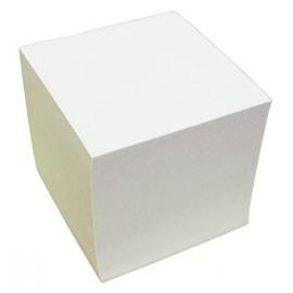 Poznámkový bloček lepený bílý 10x10x10 cm