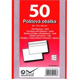 Obálky C6 samolepicí přehybové ve folii 50 ks