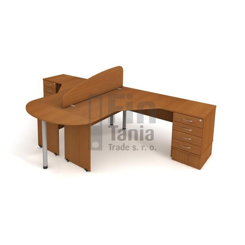 sestava Hobis GATE SG 3 , Barva stolové desky Olše Office Pro 071528500 stolová sestava